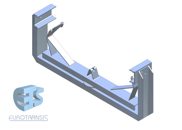 Self-aligning V-shaped return frames Brackets / Idlers | Eurotransis
